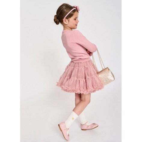 Gonna Tutu In Tulle Stampa Stelle Bambina Angel's Face STAR - Luxur...